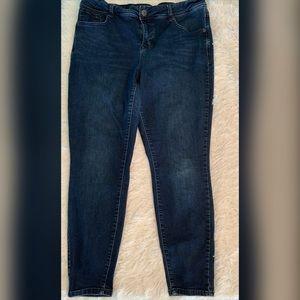 Maurices High Rise Flex Denim Blue Jeans 18 Plus